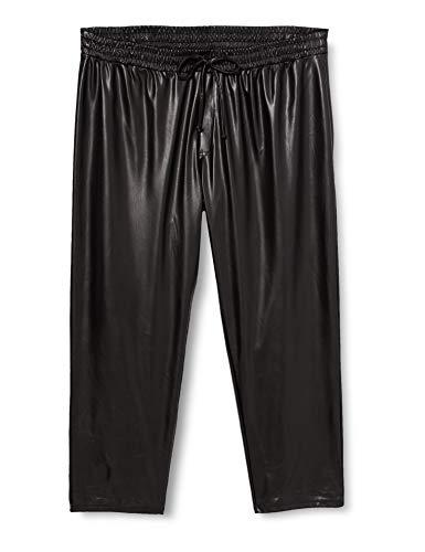 Dorothy Perkins Curve Curve Black PU Trousers Pantalon décon