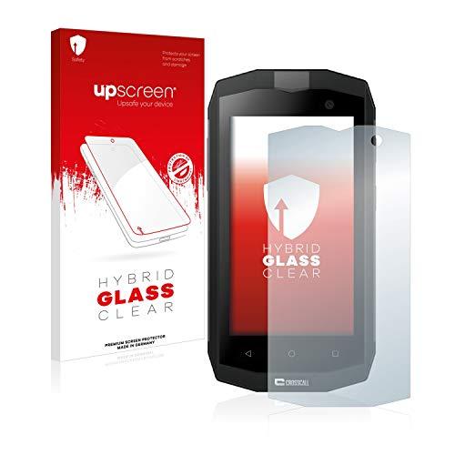 upscreen Hybrid Glass Panzerglas Schutzfolie kompatibel mit Crosscall Trekker M1 Core / M1 9H Panzerglas-Folie