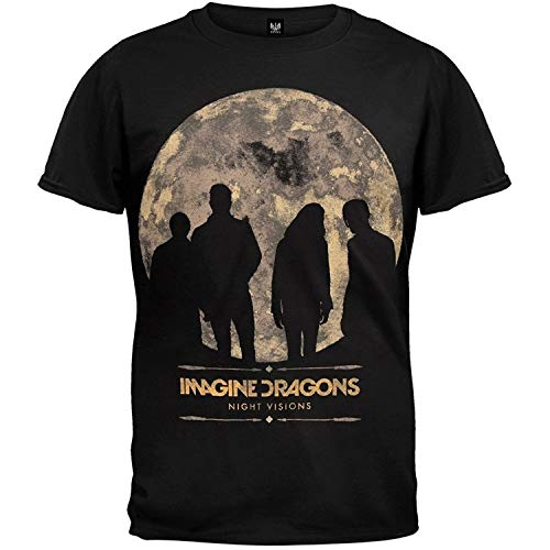 Imagine Dragons Night Visions 2013 Tour Soft T-Shirt Men Printed Casual tee Shirts