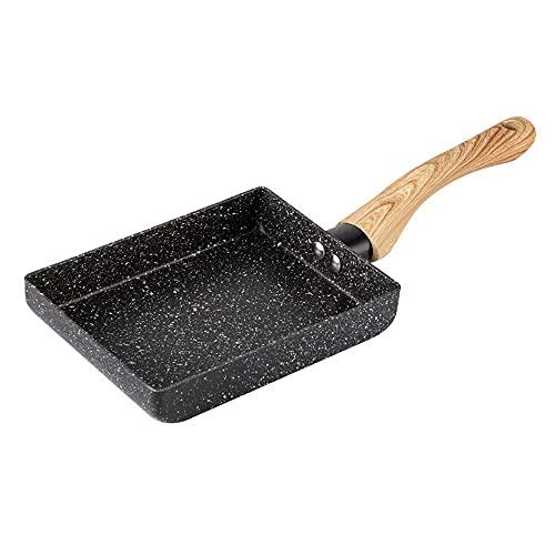 Antiadherente 7inch Sarten,Sartén 18 Cm, Mango Ergonómico ,Apta para Todo Tipo De Cocinas Incluida Inducción, Libre De PFOA (Color : Black(15 * 18'))