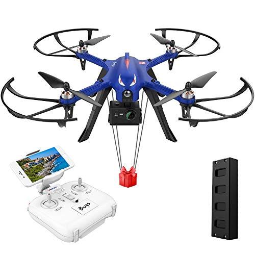 DROCON Bugs 3 motor Quadcopter sin escobillas Drone, Drone de alta velocidad para adultos y aficionados, Support Gopro HD Cámara 4K, 18 minutos de vuelo 300 metros Control de largo alcance, Azul