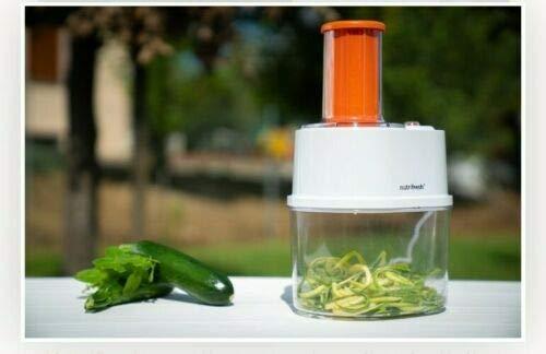 Cortador y espiralizador eléctrico de vegetales, cortador de verduras con 3 cuchillas...