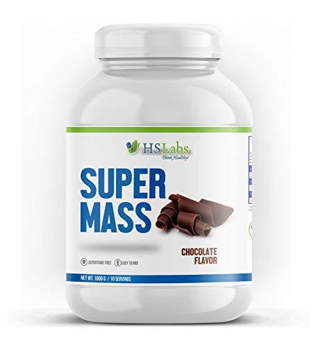 HSLabs SUPER MASSe Weight Gainer Protein Pulver Kohlenhydrat Whey Komplex Muskelaufbau Masseaufbau Massephase Eiweiß Chocolate Schoko 10 30 Portionen (Chocolate 1 kg)