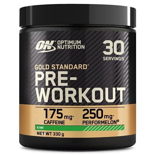 Optimum Nutrition ON Gold Standard Pre Workout, Energy Drink Pulver mit Kreatin Monohydrat, Beta Alanin, Koffein und Vitamin B Komplex, Kiwi, 30 Portionen, 330g, Verpackung kann Variieren