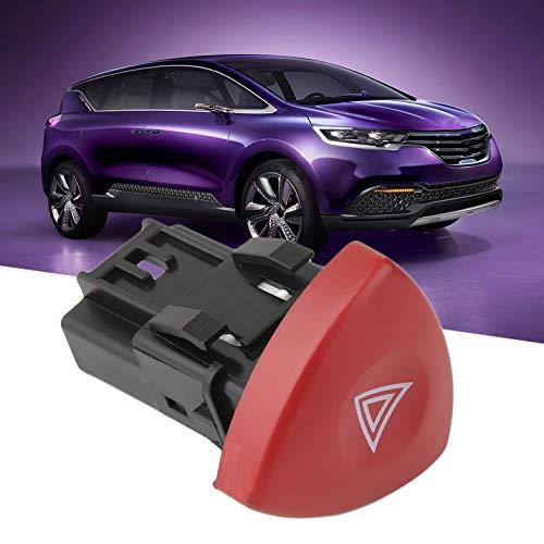 Interruptor de luz de advertencia de emergencia intermitente de advertencia Warnblinker Schalter para Renault Master Trafic II Vauxhall 01-14 - Negro + Rojo