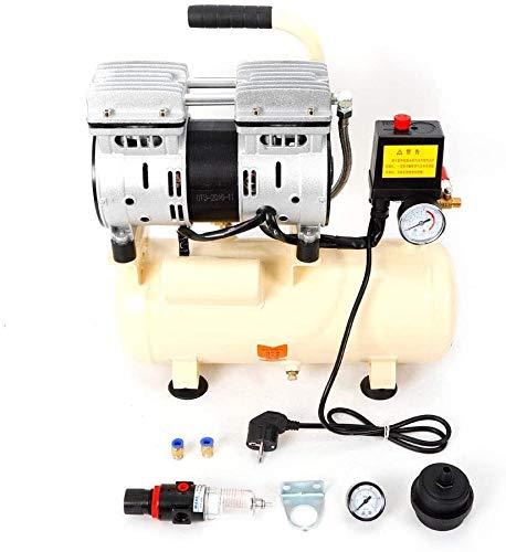 Compresor de aire silencioso, 8 litros, sin aceite, 550 W