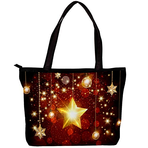 Laptop Bag for Women Golden Stars Large Office Handbags Briefcase Fits Up to 15.6 inch Laptop 11.8x4.1x15.4in