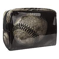 女性用コスメティックバッグ アメリカの野球 ゆったりとした化粧ポーチトラベルトイレタリーバッグアクセサリーオーガナイザー