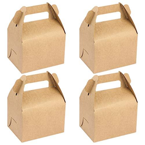 Kisangel 12 Unids Cajas de Regalo de Regalo de Papel Kraft Cajas de Golosinas Cajas de Postre Cajas de Gable Cajas de Favor de Fiesta para Cumpleaños Boda Fiesta de Bienvenida Al Bebé
