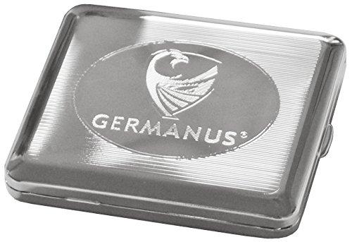 GERMANUS Zigarettenetui, Made in Germany, versilbert mit Sterling Silber