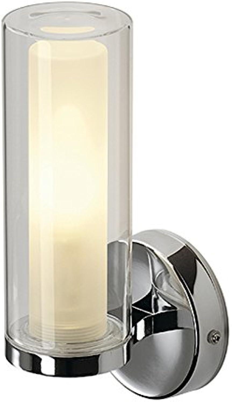 Wandleuchte WL 105 E14 Glas außen klar Glas innen satiniert chorm EEK  E - A+
