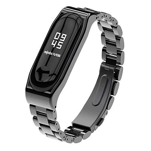 XIHAMA For Xiaomi Mi Band 4 Mi Band 3 高級 ステンレスチール 交換バンド 腕時計 替えストラップ シャオ...
