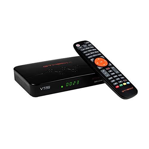 GTMEDIA V7 Pro DVB-S/S2/S2X + DVB-T/T2 TV,Full HD 1080P,H.265 10bit,con Antena WiFi USB/CA Lector de Tarjeta,Soporte CC CAM Youtube AutoBiss (GT Media V7 Plus Mejorada)