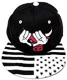 Cappello Baseball Snapback,Cappellino con Visiera U.S.A,Berretto Chicago Bulls