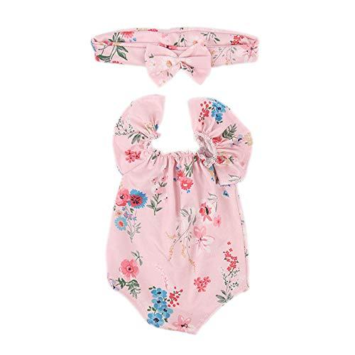 Uteruik Doll Badpak Kleding en Hoofdband voor 46cm/18in Amerikaanse Meisje Pop Casual Outfits Kostuum Accessoire, 2 stks/set