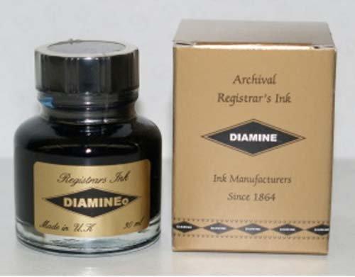Diamine Registrars Ink Blue/Black 30mL Bottled Ink - DM-3038