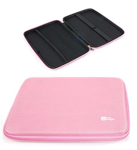 DURAGADGET Funda Rígida Rosa para Tablet Chuwi HiBook/HiBook Pro / Hi10 / Vi10 Ultimate - con Bolsillo De Red En Su Interior