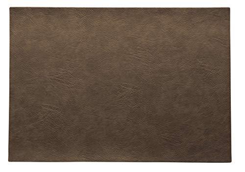 ASA Vegan Leather Tischset, Polyurethane, Nougat, 46 x 33 cm