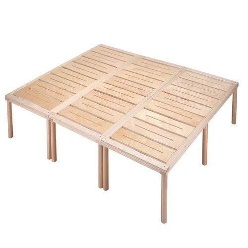 Gigapur G1 28992 Bett, Co-Sleeping, Birke Schicht-Holz, Bettrahmen Belastbar bis 195 kg, Natur, 240 x 200 cm