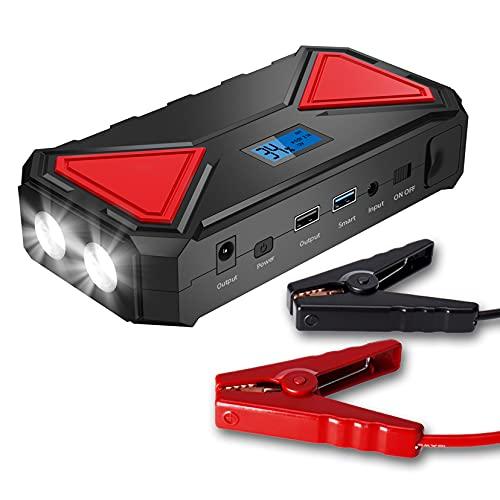 LBYDXD Arrancador de Coches, 13500 mAh arrancador de baterias, hasta 6.5L Gas o 5.2L Diesel Engine, con Carga USB, Linterna LED, arrancador bateria