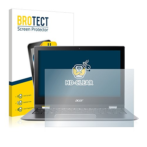 BROTECT Schutzfolie kompatibel mit Acer Spin 1 SP111-32N (2 Stück) klare Bildschirmschutz-Folie