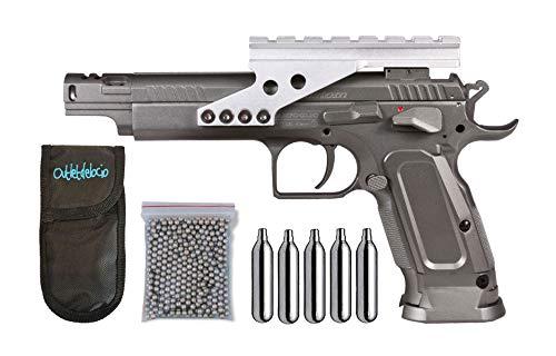 Outletdelocio.. Pistola perdigon Tanfoglio Gold Custom Co2 4,5mm. Blowback. Metalica + Funda Portabombonas + Balines + Bombonas co2. 23054/29318