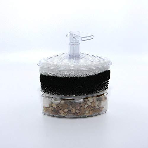 Dreieck-Luftfilter mit Filtermatte, Filterflies und Kies für Nano-Aquarium