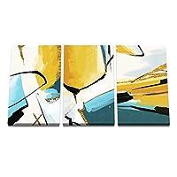 ミニマリストのモダンな抽象的な壁のポスターとプリントリビングルームの装飾のためのインスピレーションアートワークの写真50x70cmx3フレームなし