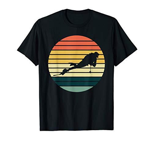 Retro Taucher tauchen Hobby Beruf Berufstaucher T-Shirt