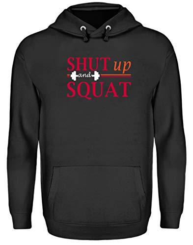 Shut Up and Squat Gym - Sudadera con capucha unisex Negro Jet M