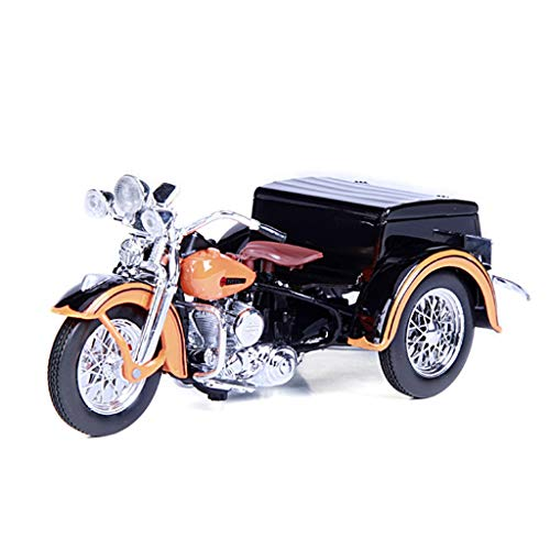 JSFQ Original 1:18 Harley Dreirad Motorrad Modell Spielzeug Simulation Legierung Automodell Handwerk Sammlung