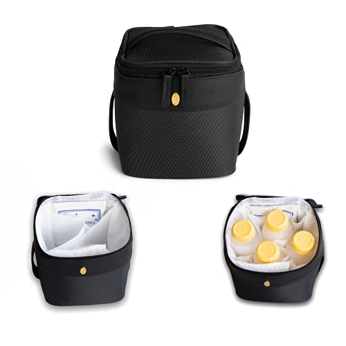 Insulated Breastmilk Cooler Bag - Idaho Jones - Roxwell | Keeps Breast Milk ICY Cold for 8 Hours – Pump & Store at Work, in The Car or at Daycare | Baby Bottle Cooler Fits 4 | Premium Design