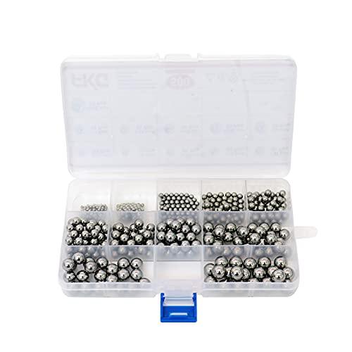 "FKG Bearing Balls 3/32'', 1/8'', 5/32'', 3/16'', 7/32'', 1/4"", 9/32'', 5/16"", 11/32'', 3/8"", 13/32'' Chrome Steel Bearing Balls 500Pcs"