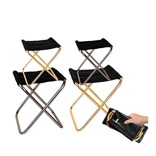 Silla de camping portátil ultraligero plegable Mochila Silla plegable silla de camping Pesca silla ligera de picnic al aire libre de aluminio plegable portátil llevar Fácil Herramientas de la pesca