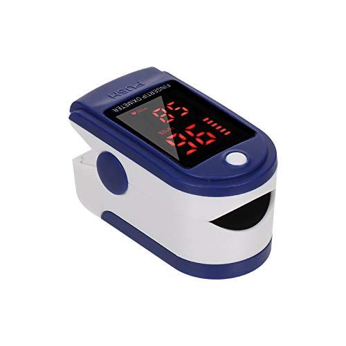 Carevas Punta del Dedo Digital Oxímetro de Pulso Pantalla LED Sensor de oxígeno en Sangre Saturación SpO2 Monitor Medidor de para el hogar de Ancianos Amante de los Deportes ✅