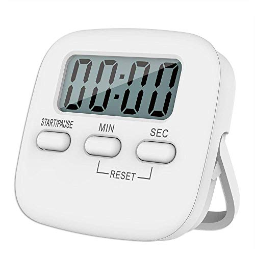 UCRAVO Kitchen Timer, Digital Kitchen Timer Magnetic Countdown Stopwatch Timer with Loud Alarm, Back Stand/Digital Timer Clock/Digital Kitchen Timer