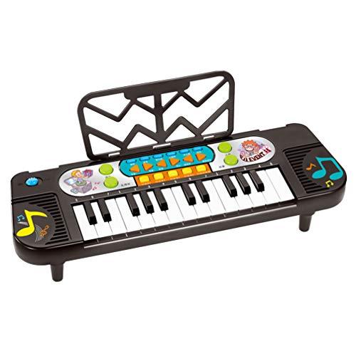Exceart Elektrisch Toetsenbord Piano Leren Toetsenbord Educatief Muziekinstrument Piano Speelgoed Voor Kinderen (Zwart)