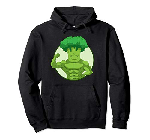 Broccoholic | Plant Power Lifter | I Love Broccoli Pullover Hoodie