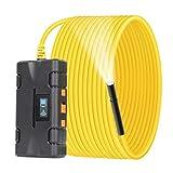 WISAMIC Cámara endoscópica WiFi 5.0 MP y 2560 x 1920 puntos de imagen HD semirrígida, cámara de inspección para smartphones iOS y Android, tabletas, 5.5 m
