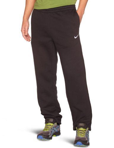 NIKE Herren lange Sporthose Fleece Cuffed Pants, Black/White, S, 404466