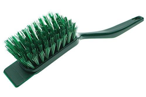 FBA Rasenmäherbürste mit Schaber aus stabilem Kunststoff mit Aufhängeloch, ideal zum reinigen des Rasenmähers von Gras und Schmutz nach getaner Arbeit, L: 30 cm, hergestellt in Deutschland