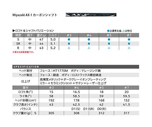 DUNLOP(ダンロップ)フェアウェイウッドXXIOゼクシオエックスフェアウェイウッドMiyazakiAX-1シャフトカーボンメンズ右ロフト角:18度番手#:5フレックス:SR