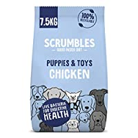 Scrumbles complete dry puppy food is made with natural ingredients! With added salmon oil, which contains omega 3 and DHA to support cognitive development Added probiotics makes this gut friendly recipe gentle on digestion, perfect for puppies and sm...