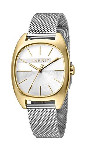 Esprit Damen Analog Quarz Uhr mit Edelstahl Armband ES1L038M0115