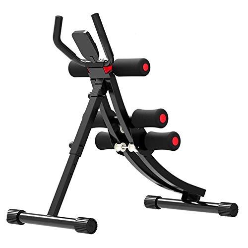 Entrenador abdominal, instalación plegable ajustable de la máquina de ejercicios abdominales de la máquina de ejercicios abdominales de la máquina de entrenamiento de la máquina con monitor LCD