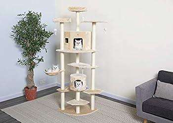 Go Pet Club Cat Tree 80-Inch Beige
