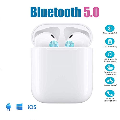 Auriculares Bluetooth TWS i12, Control táctil y Auriculares estéreo