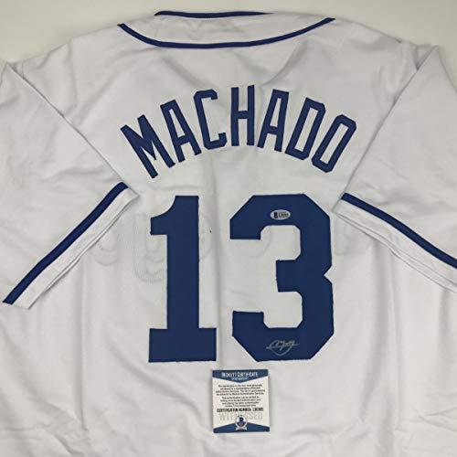 Autographed/Signed Manny Machado San Diego White Baseball Jersey Beckett BAS COA
