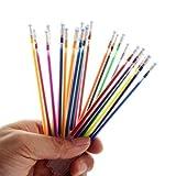 MNDR Bolígrafos 12/24/36/48 Colores Recargas de bolígrafos de Gel Brillo para Colorear Dibujo Pintura Marcador Artesanal Material Escolar Oficina Bolígrafos de Gel, 24 Colores