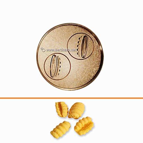 Trafila in bronzo per Gnocco Sardo Gnocchetti Sardi per macchina pasta fresca professionale VIP/2 2,8kg e VIP4 4kg e compatibile FIMAR MPF 2,5 e MPF 4